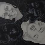 Black & White, Bleist. Kreide, 100x70cm