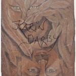 Cat life, Japanpapier Rötel, 94x62cm
