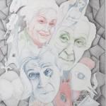 Chagall, Blei- Farbstift, 80x60cm