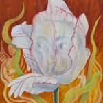 Dali & Tulip, Acryl Leinw, 73x60cm