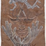 Inspiration, Japanpapier Rötel, 94x62cm