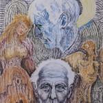 Max Ernst, Frottage Kreide Papier, 80x60cm