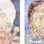 Serie Hera, Poseidon, Acryl Leinw, je 30x24cm