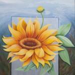 Sonnenblume IV, Acryl Leinw, 116x100cm