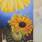 Sunflower Wheel II, Acryl Leinw, 100x70cm