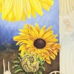 Sunflower-wheel II, Acryl Leinw, 100x70cm