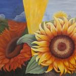 The raise of the Sunflowers, Acryl Leinw, 130x162cm